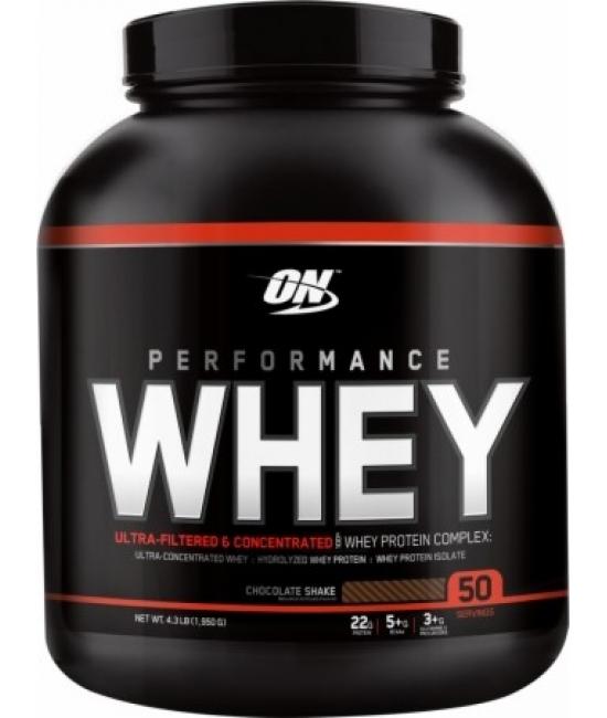 Протеин сывороточный Optimum Nutrition Performance Whey 1900 g (50 serv)