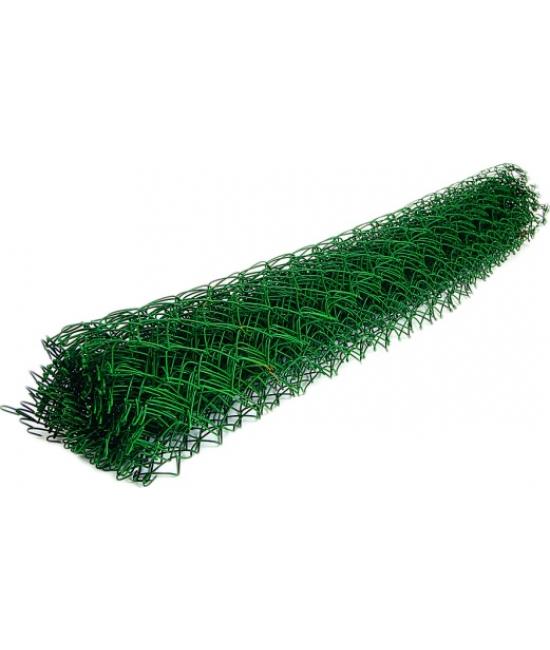 Строительная сетка Сетка-рабица оцинкованная в ПВХ 50х50 2.8мм 1.2x10м (зеленый)